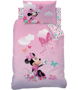 MINNIE MOUSE - Toddler Bed/Cot Quilt Cover Set