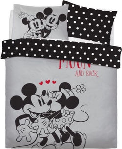 Minnie & Mickey Double to Queen Quilt Cover Set