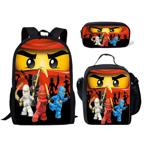 COMING SOON Lego 3 Piece Backpack Set (Cooler bag, Pencil Case)