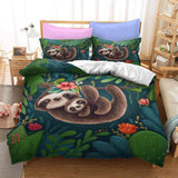 PRE ORDER 3 WEEKS Sloth Quilt Cover Set