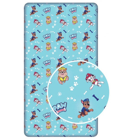 PRE ORDER PAW PATROL Single fitted sheet ONLY