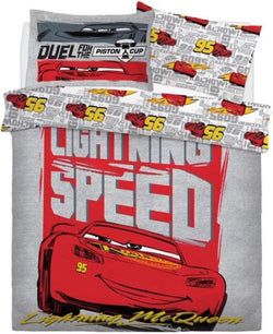 Cars McQueen Double to Queen Quilt Cover Set