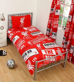 "Liverpool FC Patch ""Reversible"" Football Single Quilt Cover Set"