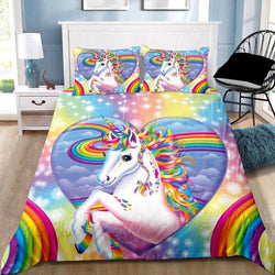 Unicorn Heart Quilt Cover Set