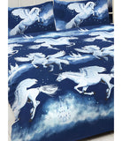 Unicorn Navy Double to Queen Quilt Cover Set