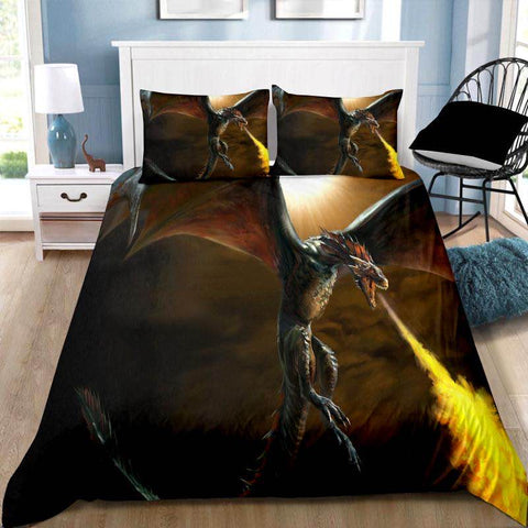 Fire Dragon Quilt Cover Set KING LEFT