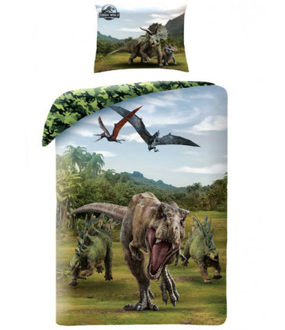 Dinosaur Jurassic World Single Quilt Cover Set EURO Case