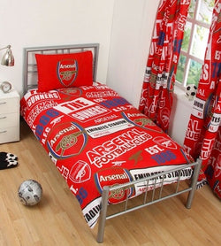 "Arsenal FC Patch ""Reversible"" Football Single Quilt Cover Set"