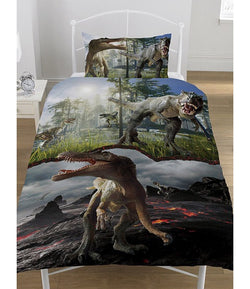 Dinosaur Jurassic Predators Single Quilt Cover Set