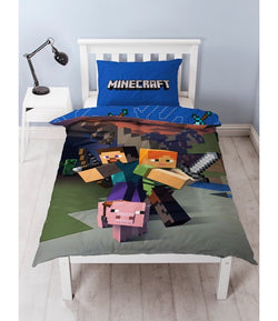 PRE ORDER Minecraft Single Quilt Cover Set