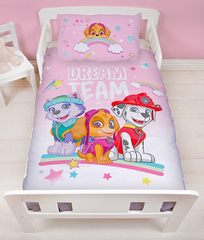 PRE ORDER Paw Patrol Skye - Toddler Bed/Cot Quilt Cover Set