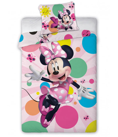 Minnie Mouse Dotty Single Quilt Cover Set EURO Case