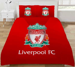 "Liverpool FC ""Reversible"" Football Double to Queen Quilt Cover Set"