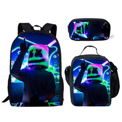 MARSHMELLO 3 Piece Backpack Set (Cooler bag, Pencil Case)