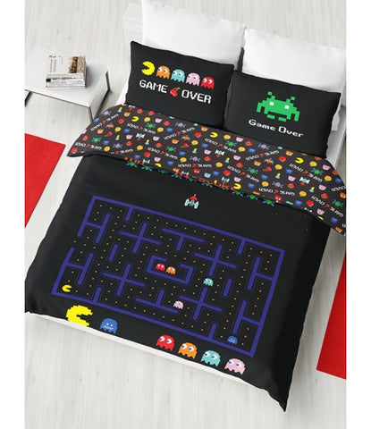 Double to queen Quilt Cover Set - RETRO GAMES