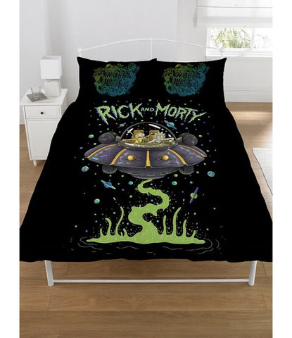 Rick and Morty Double to queen Quilt Cover Set