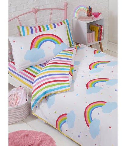 Rainbow Sky Single Quilt Cover Set