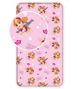 PAW PATROL SKYE Single fitted sheet ONLY