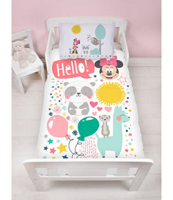 MINNIE - Toddler Bed/Cot Quilt Cover Set