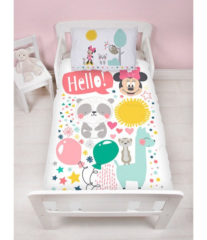 PRE ORDER MINNIE - Toddler Bed/Cot Quilt Cover Set