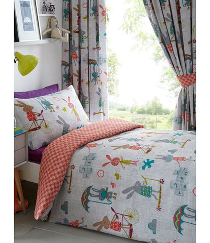 Rabbits Single Quilt Cover Set