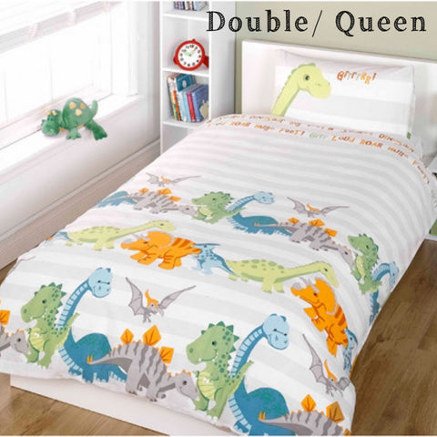DINOSAUR Double to Queen Quilt Cover Set