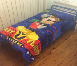 Single faux mink blanket Mickey