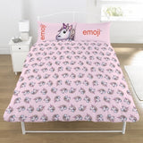 Emoji Unicorn Reversible Double to Queen Quilt Cover Set