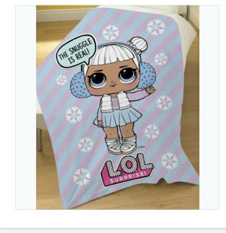 Lol dolls Throw Size Fleece Blanket
