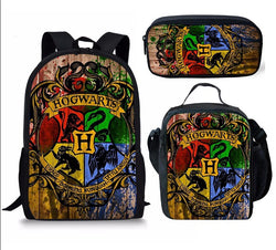 HARRY POTTER 3 piece backpack set