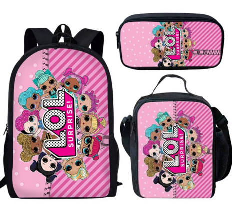 LOL DOLLS 3 piece backpack set