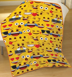 Emoji Throw Size Fleece Blanket