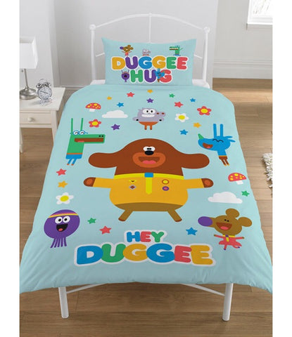 PRE ORDER Hey Duggee Hello Single Quilt Cover Set