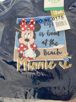Minnie Mouse Beach Licensed Baby Girl T-Shirt Tee Top BLUE