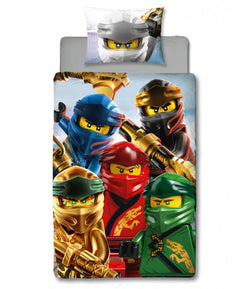 Lego Ninjago Single Quilt Cover Set