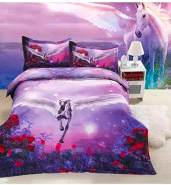 PRE ORDER Queen Quilt Cover Set - Unicorn