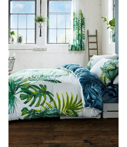 Tropical Palms Leaf King Size Quilt Cover Set