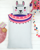 Llama 3D Single Quilt Cover Set