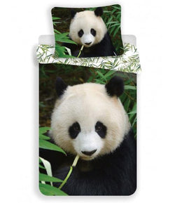 WASHED/ DMG PACKAGING Panda Single Quilt Cover Set EURO CASE