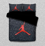 Basketball Black Quilt Cover Set