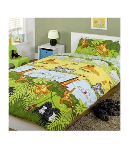 Cheeky monkey jungle Single Quilt Cover Set