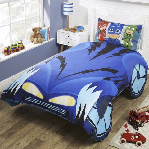 PJ Masks Cat Boy Car Single Quilt Cover Set