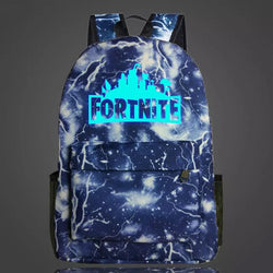PRE ORDER Fortnite Backpack - Blue White Lightening