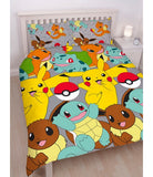 Double to Queen Quilt Cover Set - Pokemon POLYESTER