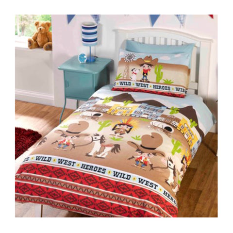 Cowboy Single Quilt Cover Set