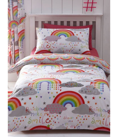 Rainbow Double to Queen Quilt Cover Set