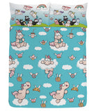 Nici Theodore Unicorn Double to Queen Quilt Cover Set