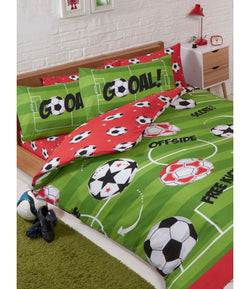 SOCCER Double to Queen Quilt Cover Set