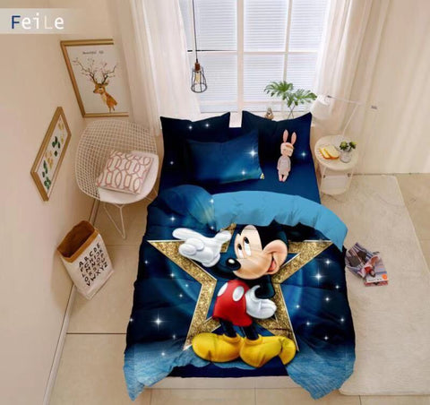 Mickey Mouse Quilt Cover Set DOUBLE