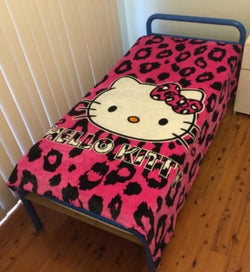Hello Kitty single faux mink blanket